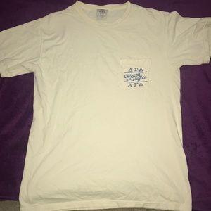 Yellow UGA Greek Life Comfort Color T-shirt